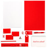 Office supplies, tools and papers. Back to school — Stock Photo