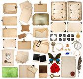 скрапбукинга элементы. старинный фотоальбом, бумага, угол и пт — Стоковое фото