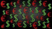 Euro usd black — Stock Photo