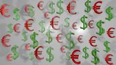 Euro usd white — Stock Photo