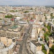View of downtown Kiev on top — Stock Photo