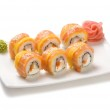 Rolls with salmon and mango  — Stock Photo #35737521