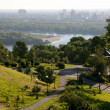 View of the river from the right bank Dnieper in Kiev — Stock Photo