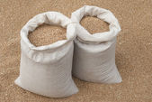 Sacks of wheat. — Stock Photo