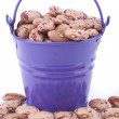 Pail with beans — Stock Photo