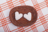 Cookies in the form of hearts. — Stock Photo