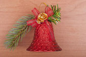Christmas decoration bell — Stock Photo