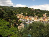 The picturesque harbour of Portofino in Italy — Stock Photo
