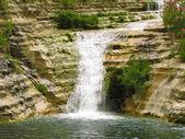 Waterfall in Cavagrande del Cassibile in Sicily — Stock Photo