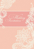 Wedding invitation. — Vector de stock
