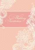 Zaproszenie na ślub. — Wektor stockowy