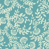 Vintage motif floral de sans couture. — Vecteur