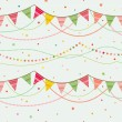 Party pennant bunting. - Stockvectorbeeld