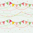 Party pennant bunting. - 