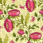 Wallpaper seamless vintage flower pattern — Stock Vector