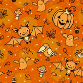 Halloween vector pattern. — Stock Vector