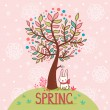 Spring card. — Stock Vector