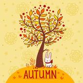 Autumn card. — Stock Vector