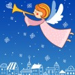 Christmas angel. — Stock Vector