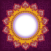Frame in the Indian style. — Stock Vector