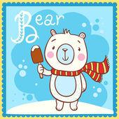 Alphabet Letter B and bear. — Stock Vector