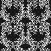 White lace seamless pattern — Stock Vector