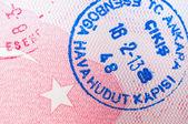 Carimbo de passaporte turco — Foto Stock