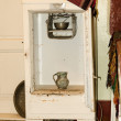 Stock Photo: Very old refrigerator