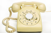Old cream telephone — Stock Photo