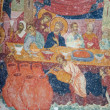 Mosaic of Jesus Christ at dinner — Stock Photo