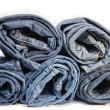 Stock Photo: Roll denim jeans