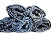 Roll denim jeans — Stock Photo