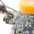 Stock Photo: Soldering circuit board