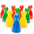 Stock Photo: Multi Color Board Game Pieces in Formation