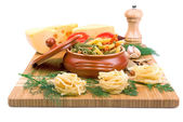 Sada potravinářských produktů — Stock fotografie