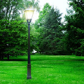Flashlight to illuminate the park — Stock Photo