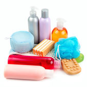 Set of toiletries for bathing — Stock Photo