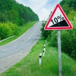 Stock Photo: Road sign steep slope