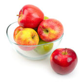 Apples in a glass — Stock Photo