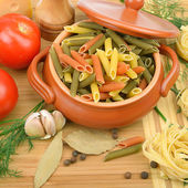 Pasta and vegetables — Stock Photo