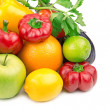Fruits and vegetables isolated on white background — Stock Photo #22923580