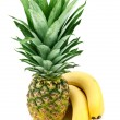 Pineapple and bananas — Stock Photo