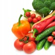 Stock Photo: Vegetables on white background