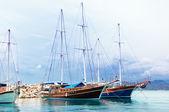 Navios de vela no mar da Baía — Fotografia Stock