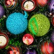Background of Christmas decorations — ストック写真