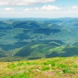 Mountain view from the top of Goverli, Carpathians — Stock Photo #33172145