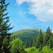 Vette panoramiche contro il cielo blu — Foto Stock
