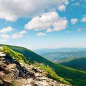 Mountain view from the top of Goverli, Carpathians — Stock Photo