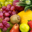 Stock Photo: Multicolored background of fruits and berries