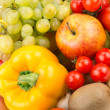 Bright background of fruit and vegetables — Stock Photo